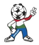 Novelty FOOTBALL HEAD MAN With Hungary Hungarian Flag Motif For Football Soccer Team Supporter Vinyl Car Sticker 100x85mm